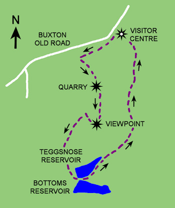 Tegg's Nose Route Map